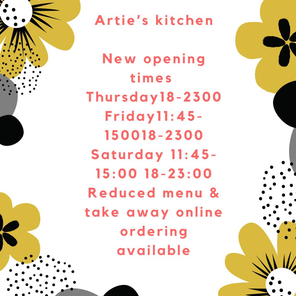 Pop-up-opening times